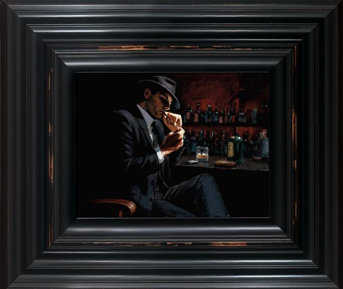 Image: Man Lighting Cigarette III by Fabian Perez | Limited Edition on Canvas
